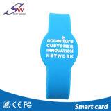 Bracelet fait sur commande d'IDENTIFICATION RF de silicones d'IDENTIFICATION RF imperméable à l'eau
