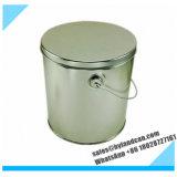 estanho Container_Bucket de 1gallon Metaliic para a pipoca de empacotamento