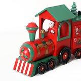 Calendrier de l'avent Train en bois pour la décoration de Noël avec 24 tiroirs en stock