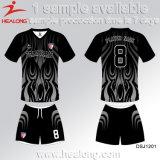Healong中国ODMサービス服装ギヤ昇華十代の若者たちのフットボールのユニフォーム