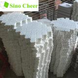 Tuiles de marbre blanches Polished de Backsplash de mosaïque de forme de lanterne