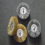 Cepillo de la rueda con el alambre doble del nudo de la torcedura de la cubierta