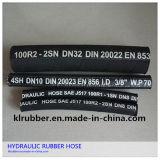 R2at/2sn Edelstahl-umsponnener hydraulischer Gummischlauch