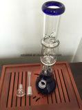 Tubo de água de vidro do tubo de vidro do tubo de fumar com duas camadas Perc, para venda!