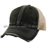 Sombrero lavado mono sucio de pulido del camionero del béisbol del acoplamiento de la tela cruzada (TM0863-1)