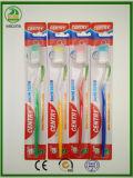 Transparente doppelte Farbe innerhalb der preiswerteren erwachsenen Zahnbürste