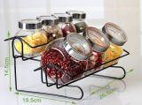Novos tipos Sal Pimenta Shakers com rack de vidro Jar