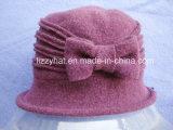Sombrero de invierno moda Sombrero de lana tejida con arco para damas