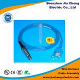 Chicote de fios do fio do conetor de Pin 3 para o cabo distribuidor de corrente de equipamento médico