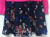 Camisola de malha para miúdos com vestido de tecido tecido Hem