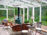 Villa de Conception aluminium en verre trempé Sun Room, maison de jardin avec double/triple entièrement en verre trempé Solarium