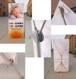 Bannière réversible en aluminium réglable en aluminium X pour publicité