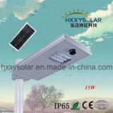 15W встроенный датчик солнечного сада, освещения улиц