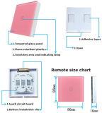벽 라이트 터치 스위치 3 갱 3 방법 가벼운 수정같은 유리 위원회 벽 스위치를 위한 무선 원격 제어 접촉 스위치 힘