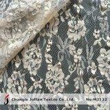Tissu de coton d'Ivoire Fleur dentelle (M3132)