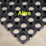 Drenaje antifatiga Estera de goma y antibacteriana alfombra del piso
