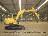 máquina escavadora pequena da esteira rolante da cubeta 9ton/0.5m3 com quebra do martelo
