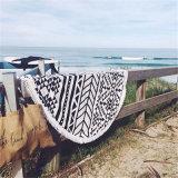 Toalla 100% de playa impresa redonda del algodón con alta calidad