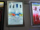 外面はバンクの広告媒体LED極度の細いポスター印刷のライトボックスを照らす