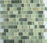 Neues Glas und Schiefer-Mischungs-Mosaik-Fliese für Wand