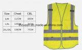 Vestíbulo amarelo de alta visibilidade Veste de segurança azul Veste reflectora de malha de poliéster reflexivo
