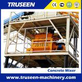Mezclador concreto automático Js1000 de la planta de procesamiento por lotes por lotes concreta para el edificio