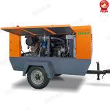 Betaalbare Hoge druk 7 Diesel van de Staaf Mobiele Compressor op Wielen