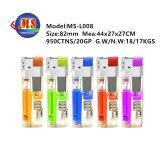 8 electrónica de canto com LED isqueiros a gás Acendedor de plástico