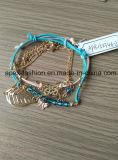 Form-Damen gesponnenes Armband mit Basisrecheneinheits-und Blatt-Form-Schmucksachen