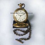 Japan Movement Vintage Fashion Pocket Watch avec chaîne