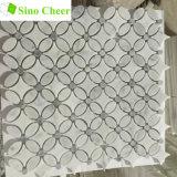 Piedra Natural azulejo blanco mosaicos de mármol material del suelo de mosaico de piedra
