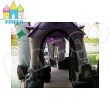 Halloween fantasma inflable casa encantada castillo con luces LED