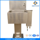Steel di acciaio inossidabile Hand Washing Sink con Knife Sterilization