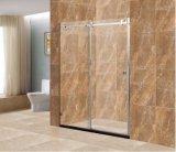 호화스러운 유럽식 목욕탕 8mm 미끄러지는 샤워 문 샤워 울안 샤워실