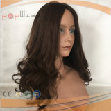 Парик шнурка Brown человеческих волос связанный рукой (PPG-l-0014)