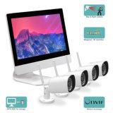 "4CH WiFi NVR Monitor 11.6"" Sistema de cámaras de seguridad de red inalámbrica Kits CCTV"