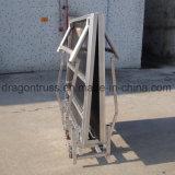 Складные этапе алюминиевых портативный, вне помещений, стадии складывания