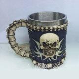 ホームDrinkwareのためのコーヒー樹脂のステンレス鋼のコップの頭骨のドラゴンのマグ