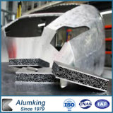 Matériau absorbant le son de l'aluminium pour la construction de panneaux de mousse