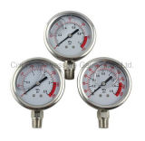 2.5inchesすべてステンレス鋼の圧力計の卸売
