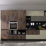 Countertop van de Steen van het kwarts de Moderne Keukenkasten van de Douane van Cabinetry van de Voorraadkast met Houten Aanwinst