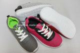 Schoenen van het Bovenleer van de polyester de Enige, Toevallige en van pvc