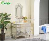 Salone/camera da letto di lusso di disegno della vernice dorata un insieme dello specchio e del Governo rispecchiato