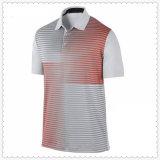 Hombre100% de algodón personalizadas de alta calidad logotipo impreso en blanco casual Camisa de polo