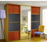 Placa decorativa 3D folheado de madeira do painel da parede do painel 3D texturizados decorativos para portas