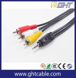 3,5 mm de 3m-3RCA macho a macho cable de audio (M/F)