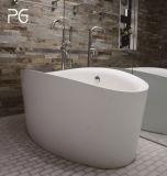 Vasca da bagno poco costosa della stanza da bagno collaudata CSA di alta qualità della pietra indipendente ovale moderna della resina