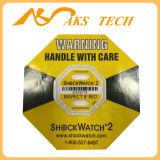 Ярлык удара Shockwatch 2 по-разному чувствительностей имеющийся