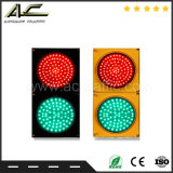 Intermitência do brilho da Segurança Rodoviária a seta de direção de passagem da luz de sinal de trânsito