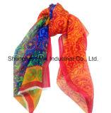 熱い販売は100%年のクワ絹の軽くて柔らかいしわの女性のスカーフを印刷した(AMA170609-10)